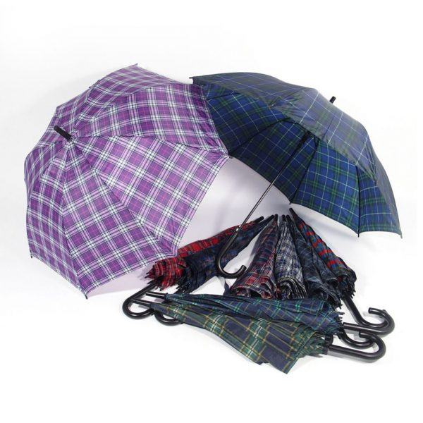 ombrello motivi scozzesi