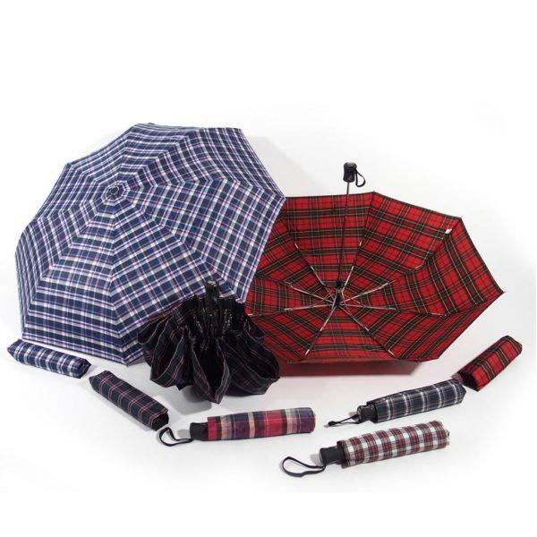 ombrello da donna scozzese